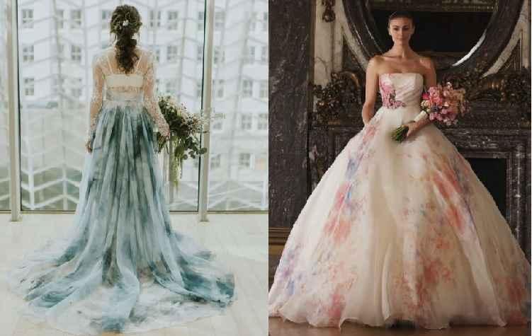 Vestido de Noiva Aquarela – Nova Tendência