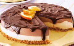 Cheesecake Bicolor Com Laranja – Receita