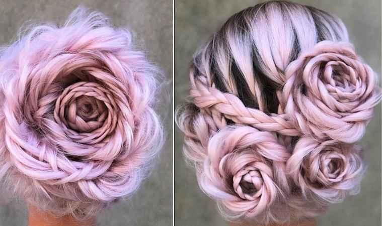 Penteado Trança Em Rosas – Tendência