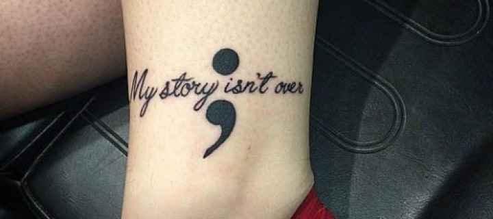 Tatuagem Ponto e Vírgula - Significado
