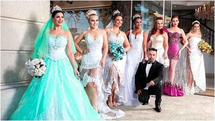 Vestidos de Noiva Com Plástico - Novidade