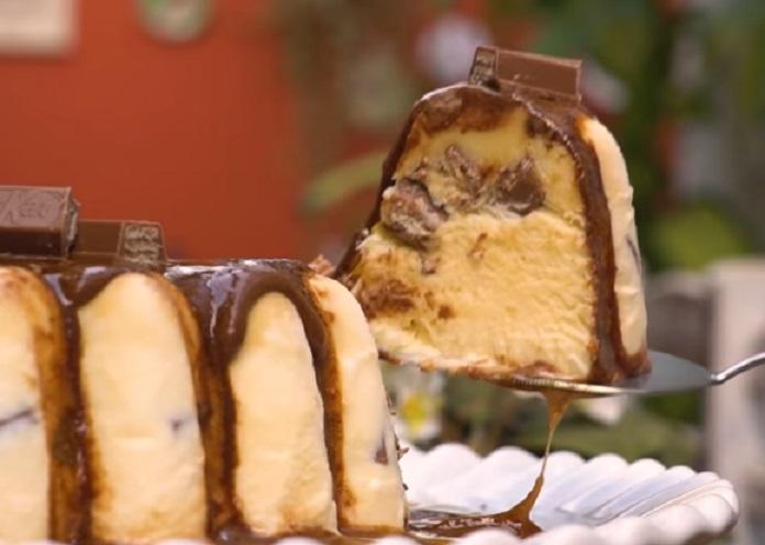 Sorvetão KitKat Caseiro Com Caramelo - Receita