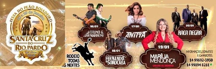 Rodeio Santa Cruz do Rio Pardo 2019 - Programação