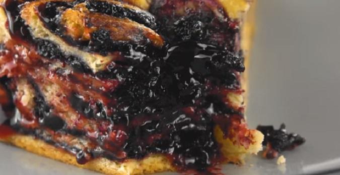 Pão Doce de Mirtilos – Receita e Vídeo