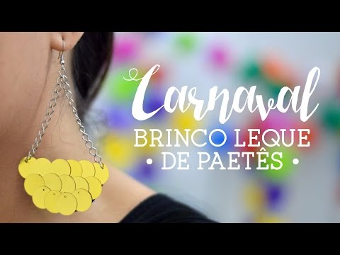 Brinco Leque Carnaval – Material e Vídeo